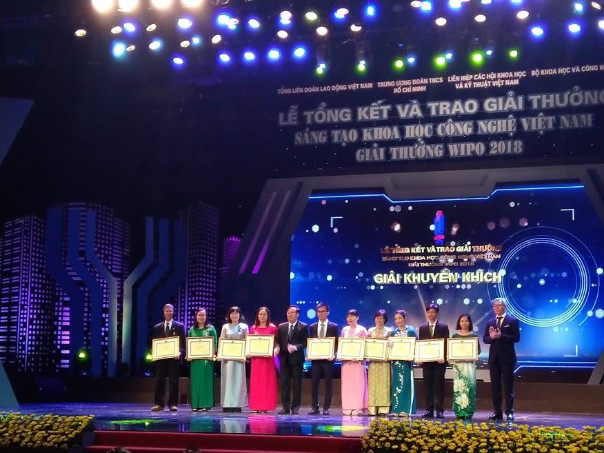 Trường Đại học Y Dược Huế đạt giải thưởng VIFOTEC - Giải thưởng sáng tạo khoa học công nghệ Việt Nam 2018