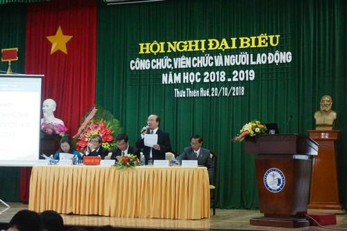 Hội nghị đại biểu Công chức, Viên chức và NLĐ Trường Đại học Y Dược Huế năm học 2018-2019