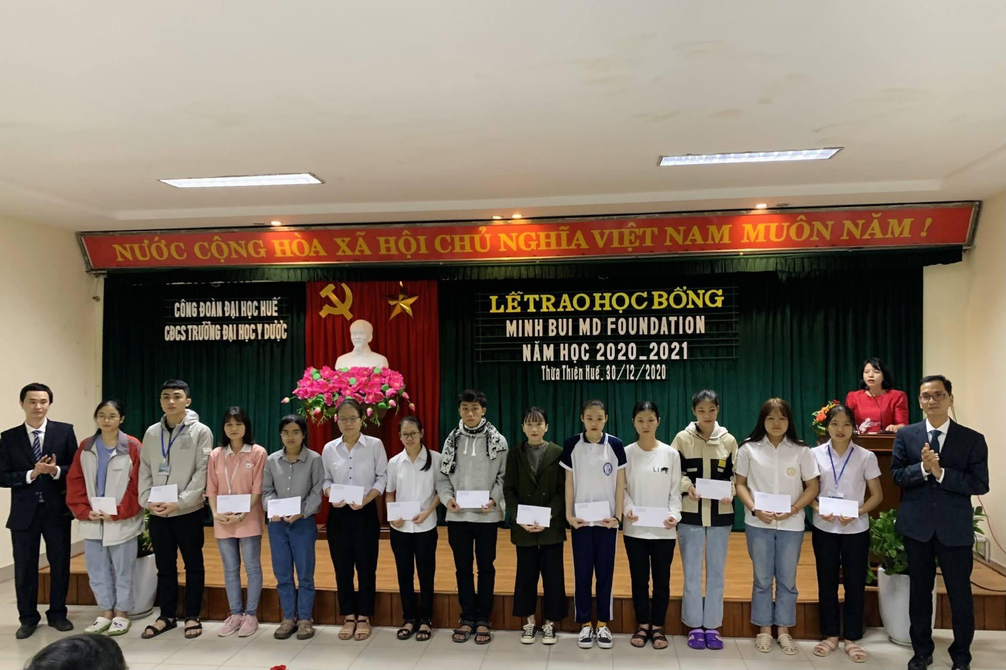 82 sinh viên được nhận học bổng Minh Bùi năm 2020