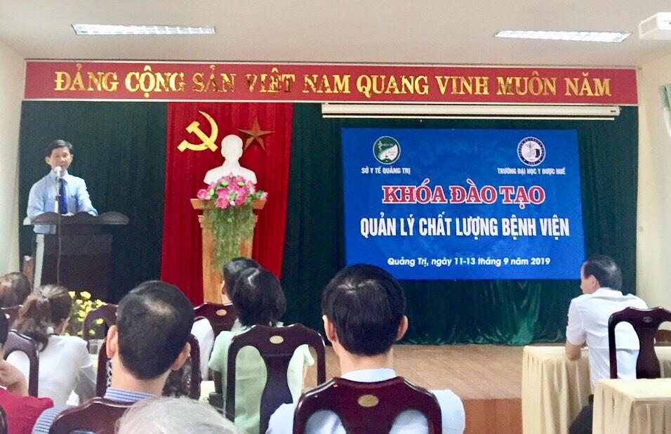 Tổ chức đào tạo lớp quản lý chất lượng bệnh viện tại sở y tế tỉnh Quảng Trị