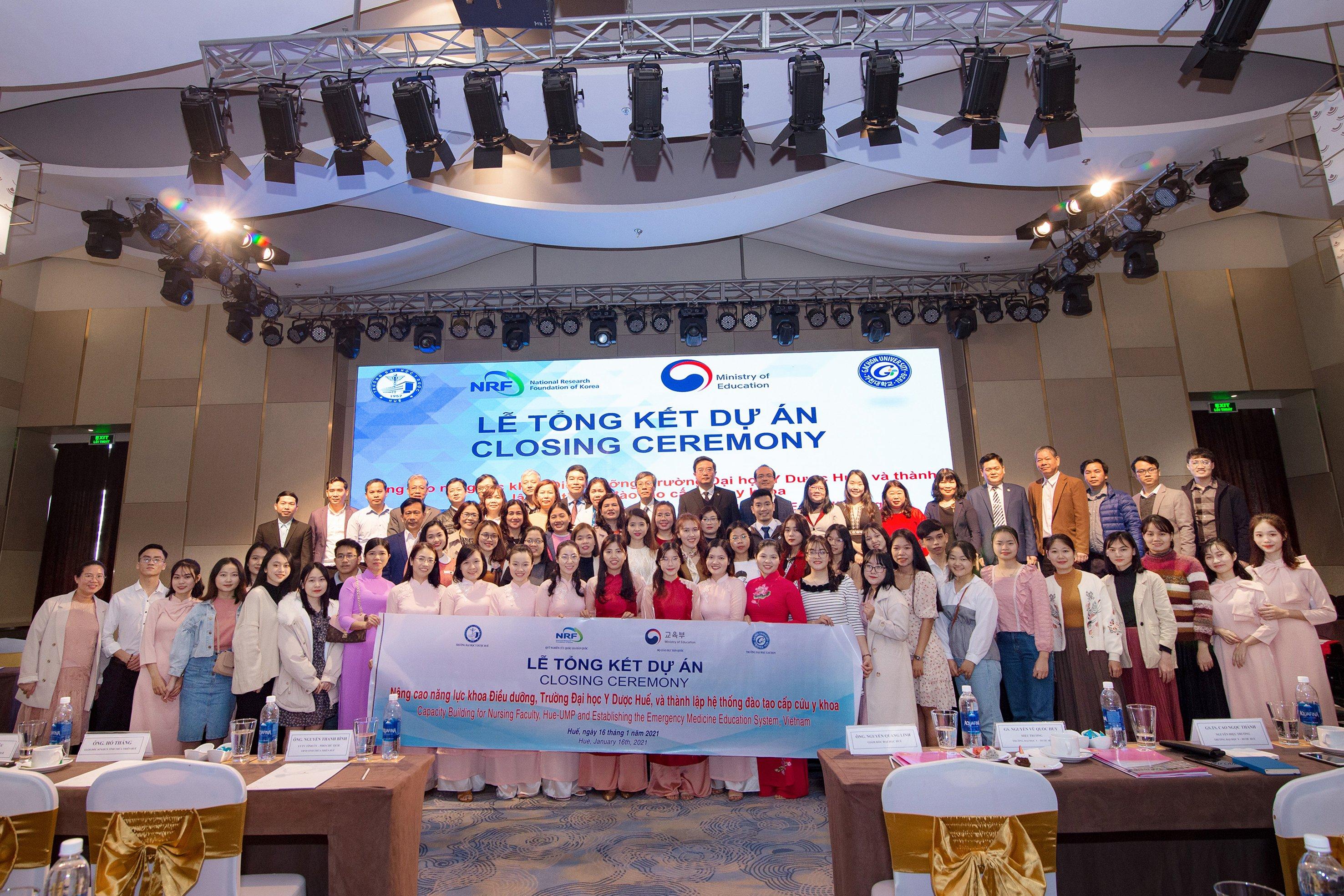 Lễ tổng kết dự án Nâng cao năng lực cho khoa Điều dưỡng, Trường Đại học Y - Dược Huế và thành lập hệ thống đào tạo y khoa