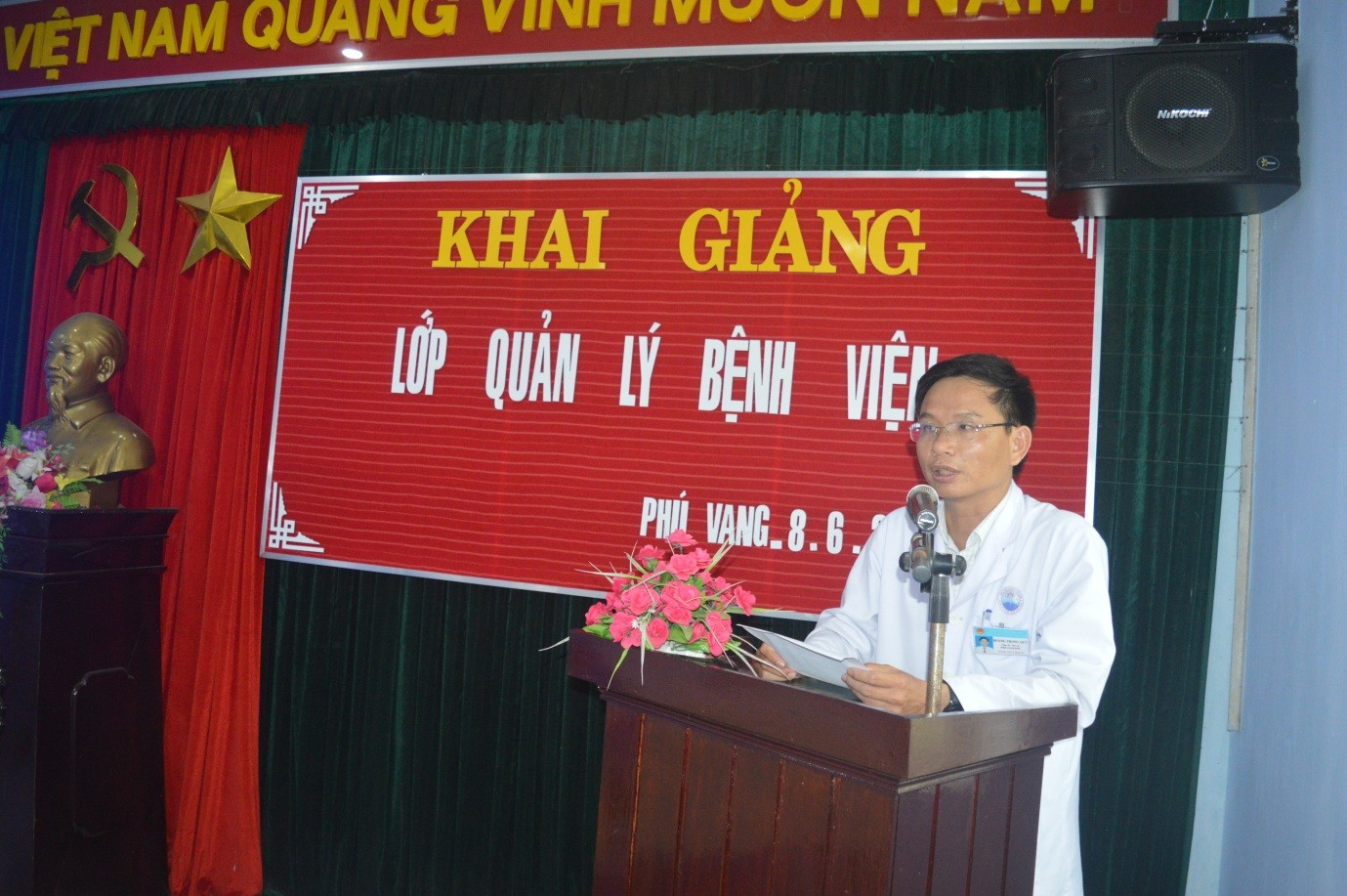 Khai giảng lớp quản lý Bệnh viện tại Trung tâm Y tế huyện Phú Vang