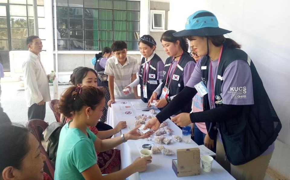 Đoàn tình nguyện của Hiệp hội các trường đại học Hàn Quốc để phục vụ xã hội (KUCSS) đến thăm và hoạt động tại Trường