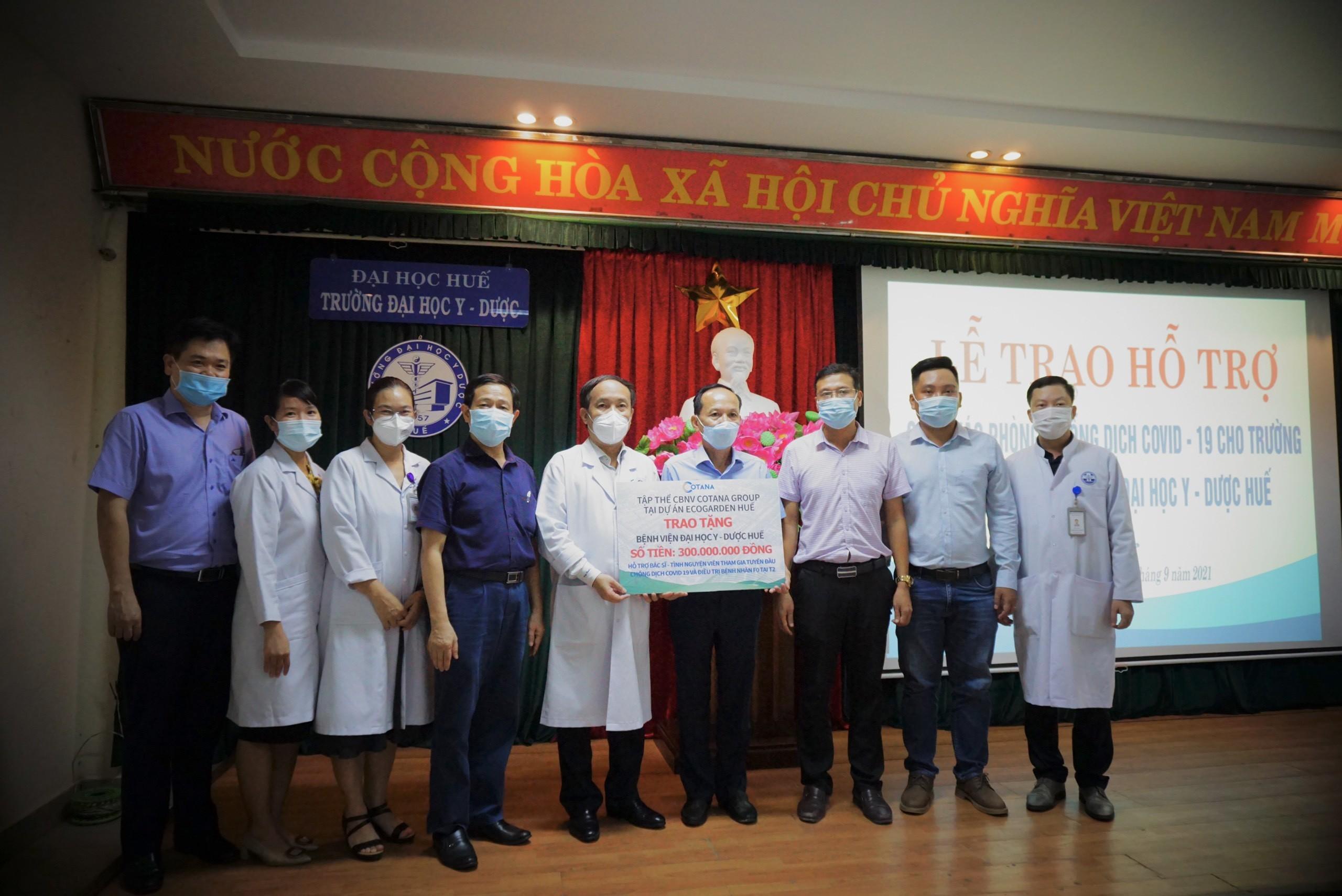 Trường và Bệnh viện Trường Đại học Y - Dược Huế tiếp nhận hỗ trợ công tác phòng chống dịch COVID-19