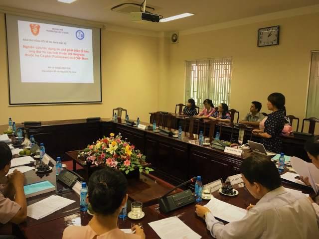 PGS.TS. Nguyễn Thị Hoài báo cáo nghiệm thu đề tài