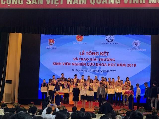 Đề tài sinh viên đạt giải Ba tại Giải thưởng sinh viên nghiên cứu khoa học năm 2019