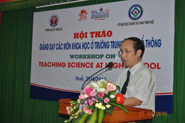 Trường Đại học Y Dược Huế phối hợp với Sở GD & ĐT Tỉnh TT Huế tổ chức Hội thảo giảng dạy các môn khoa học ở trường THPT