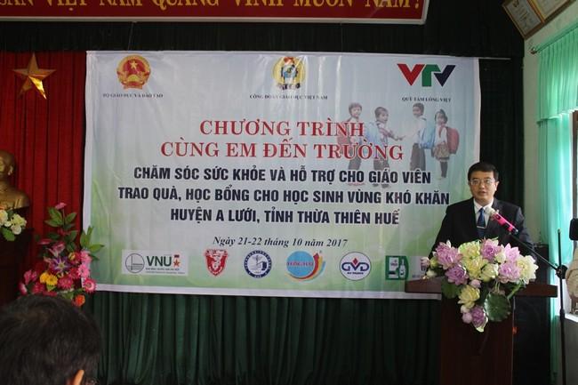 PGS. Nguyễn Vũ Quốc Huy – P Hiệu trưởng Trường ĐHYD  Huế phát biểu