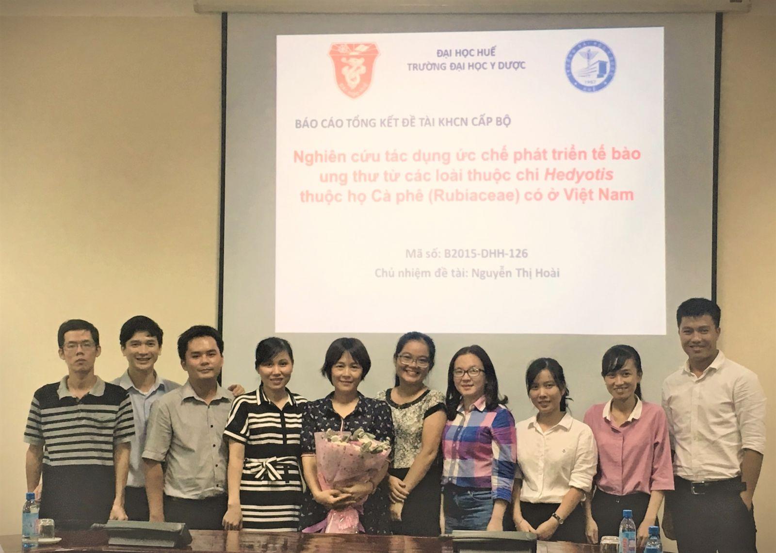 Nhóm nghiên cứu Hợp chất thiên nhiên (Khoa Dược, Trường Đại học Y Dược Huế, Đại học Huế)