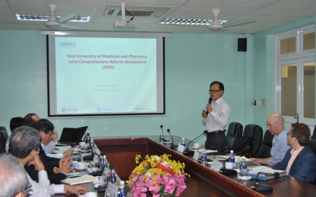 Dr. Nguyen Quang Trung, Deputy Director of HAIVN in Vietnam introduced about the IMPACT – MED project