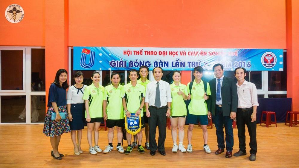 Đoàn Đại học Y Dược Huế tham gia giải bóng bàn hội thể thao ĐH và CN Huế lần thứ 10