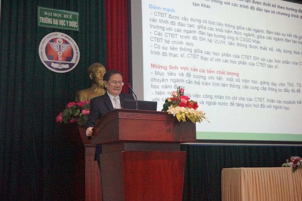 GS.TSKH Đặng Ứng Vận, Trưởng đoàn ĐGN trình bày báo cáo sơ bộ kết quả khảo sát chính thức