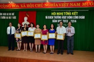 Hội nghị tổng kết, khen thưởng công đoàn năm học 2013-2014 và triển khai hoạt động Công đoàn năm học 2014-2015.